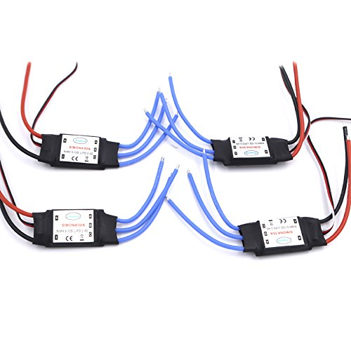 4pcs/lot 30A SimonK Prgramme RC Brushless ESC With BEC 2A For Axis Quadcopter Multicopter Wholesale Promotion from LEACO