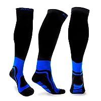 ABIsedrin Calcetines de compresión para hombres y mujeres, Calcetines de compresión graduados para atletas, corredores, enfermeras, maternidad, vuelo, calcetines de circulación