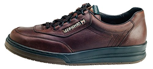 Mephisto Mens Match Oxfords Shoes, 11h, Vintage Marrone Scuro