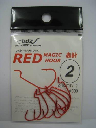 オッズ レッドマジックフック 赤針 2号の商品画像