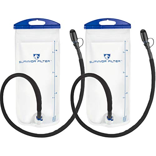 Survivor Hydration Reservoir 2 Pack, 3 Liters Each (6L Total), BPA and Odour Free, All Custom Designed and Easy to Clean