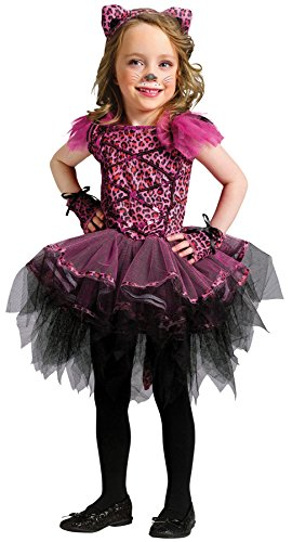 UHC Cute Girl's Ballerina Leopard Toddler Kids Fancy Dress Halloween Costume, 24M-2T -