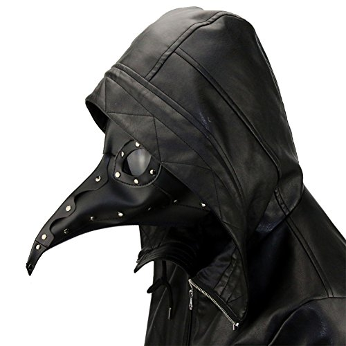 Plague Doctor Kit (ShiningLove Halloween Masquerade Unisex Plague Bird Doctor Nose Cosplay Fancy Gothic Steampunk Retro Rock Mask)
