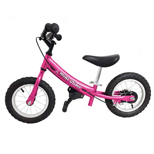 Mini Glider Kids Balance Bike with Patented Slow Speed Geometry (Pink)