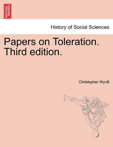 Papers on Toleration. Third edition. PDF