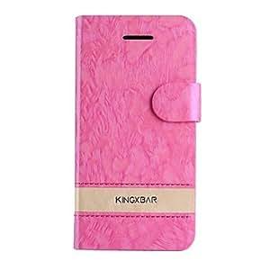 MOFY- moda de color de contraste en 8 diferentes colores de cuero de la PU caso genŽrico de cuerpo completo con ranura para tarjetas de 5c iphone (colores , Naranja