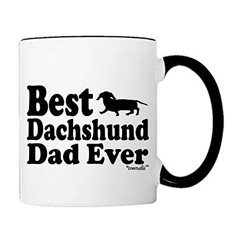 Mug Best Dachshund Dad Ever Animal Pet Owner Dog Lover Gifts Rescue Gift Coffee Mug Tea Cup-Mug-0034-Blk