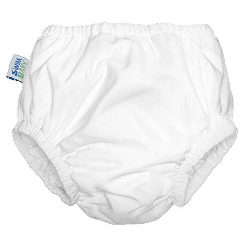 (My Swim Baby Reusable Swim Diaper, XL, White)