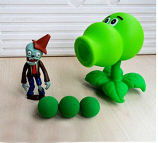RAFGL Game PVZ The Plants Vs Zombies Peashooter PVC Action Figure Model S Plants Vs Zombies Simulators Teen Must Haves Funny Gifts Favourite Movie Superhero Party Supplies LOL Unboxed (Wii Games Plants Vs Zombies)