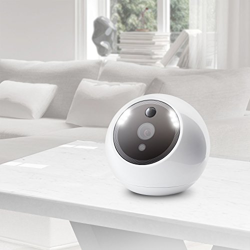 Amaryllo ATOM 360 Degree Auto Tracking Security Robot Video Camera Monitoring System with Facial Recognition - White