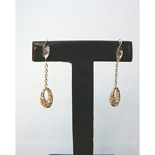 Damiata Bijoux-Boucles d'oreilles en or jaune et blanc 18 carats (750)