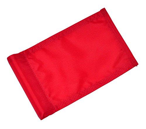 Backyard Putting Green Golf Flag - Checkered Golf Flag - Solid Red, Green, Yellow, Blue Golf Flag (Red)