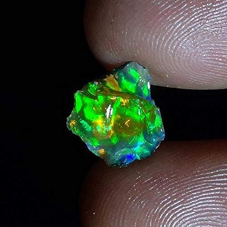 Very Gorgeous 8.20 Carat Multi Fire  Ethopian Opal best For All Type Jewelry 19X14X6 MM Multi Flashy Fire Pear  Shape Cabochon Ethopian opal