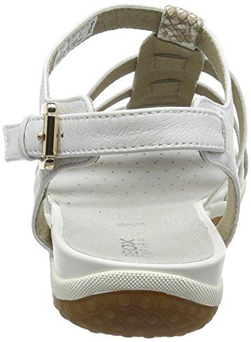 A White Vega Ouvert Sandales Femme Blanc lt Geox Beige Bout Ca5qPxww0