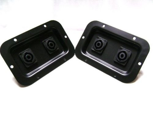 (2) Two Jack Plates with Dual SpeakON NL4 for PA Speakers / Cabinets ()