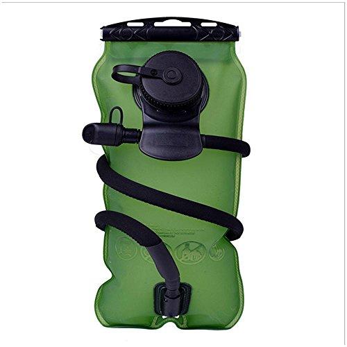TJ Outdoor Sport Trinkwasser Tasche Portable Schweres Reiten Running Klettern Wasser Tasche Große Kapazität 3L , green , 3l
