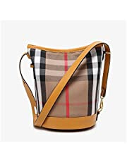 Women's Totes Crossbody Shoulder Bags Retro classic checked canvas bag bucket bag