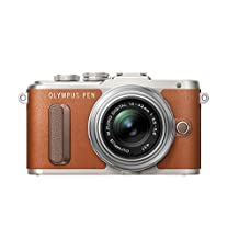 Olympus E-PL8 Brown Camera with 14-42mm IIR lens