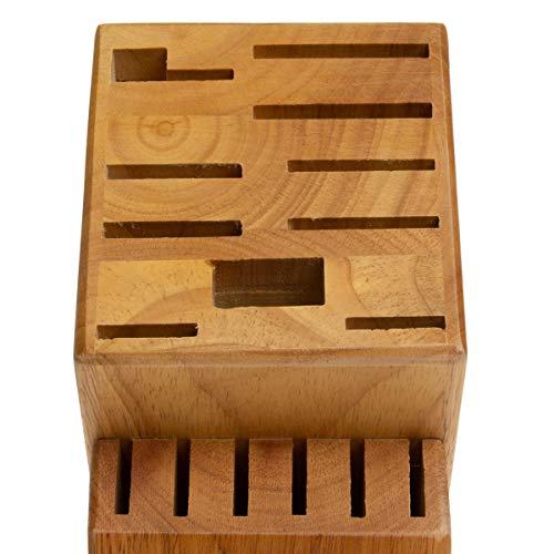 Hampton Forge 16-Slot Empty Cutlery Block, Wood, HMC01B016G by Hampton Forge Cutlery (Image #1)