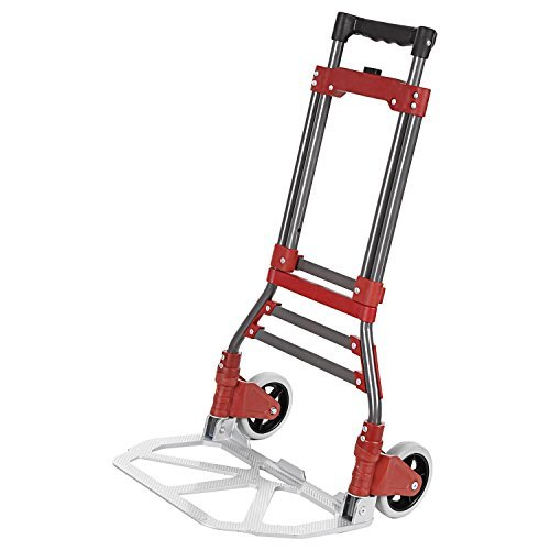 Ferty Aluminum Folding Two-Wheel Hand Truck/Cart/Dollies Bearing 165 lbs with Rope