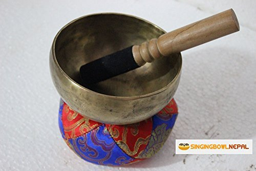 3rd Eye, or Pineal Chakra A Note Hand Hammered Tibetan Meditation Singing Bowl 5.5 Inches - Yoga Bowl By Singing Bowl Nepal