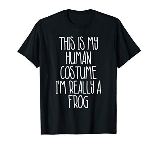 Cute Simple Frog Halloween Costume Frog T-Shirt -