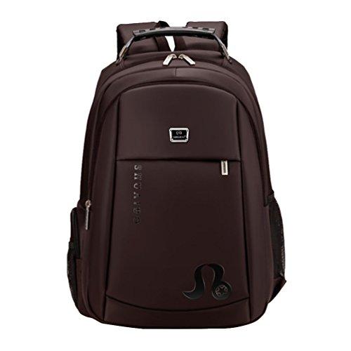Baymate Colegio Mochila para Ordenador Portátil Laptop Backpack Mochilas de a Diario Café