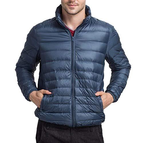 Manica Moda Mens Vestiti Outwear Inverno Caldo Hx Lunga Del Piumino Stare Ragazzi Dimensioni Blu Leggero Comodo Sportiva Tuta Collare Cappotto 77r4q5
