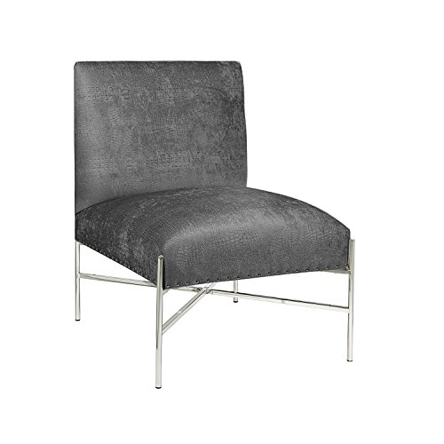 Uptown Lounger (Uptown Club GM2006 Riley Collection X-Frame Foam Accent Chair, Oversized, Slate)