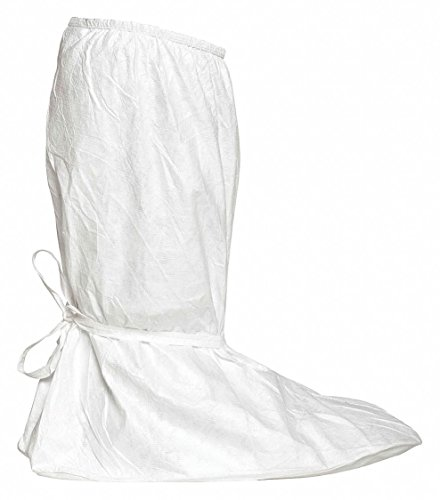 Dupont IC457SWHXL01000B Tyvek IsoClean Boot Cover, X-Large, White (Pack of 100)