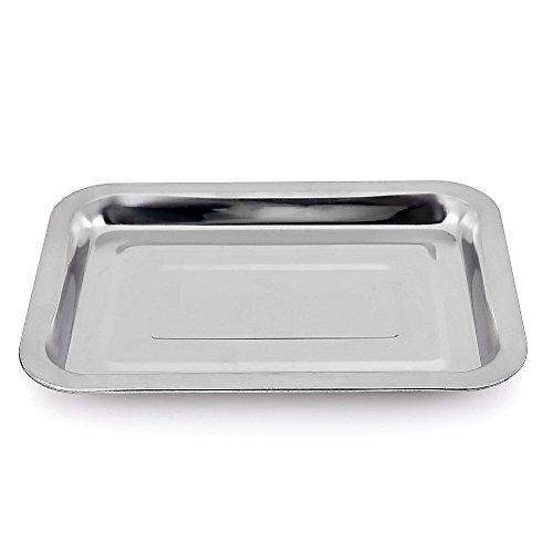 Uten® Edelstahl BBQ Barbecue Grillschale Grillplatte Menüschalen Grillpfanne Obstschale Tropfschale Gemüseschale Küchengerät