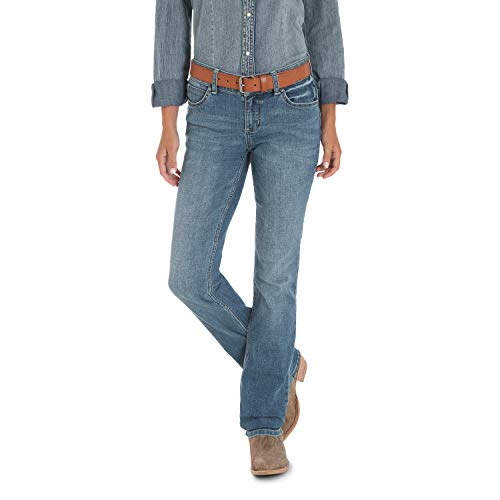 Wrangler Women's Premium Patch Mae Jean-Sits Above Hip, Lancaster 3X36