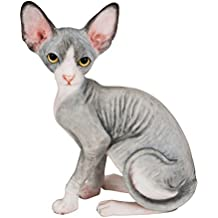 Sphynx Cat Hand Painted Statue Figurine 4.1""