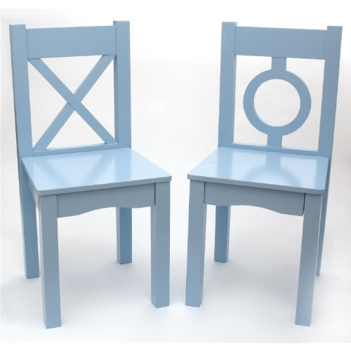 Lipper International 521-2BL Childs Chairs for Play or Activity, 12.75 W x 12.5 D x 27.25 H, Set of 2, Light Blue