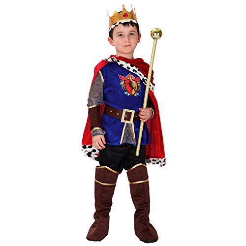 7PCS Kids Boys King Halloween Costume Prince Charming Costume (4-5)