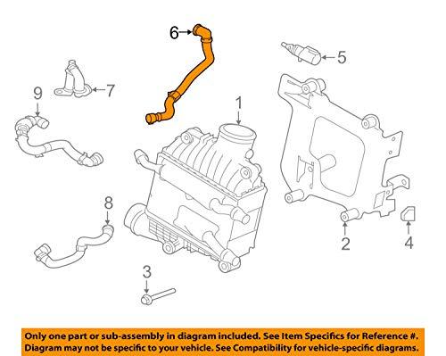 Jaguar OEM 17-18 XE 2.0L-L4 Intercooler-Reservoir Hose T2H4038 by Jaguar (Image #3)