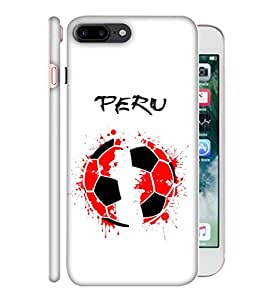 ColorKing Football Peru 02 White shell case cover for Apple iphone 7 Plus
