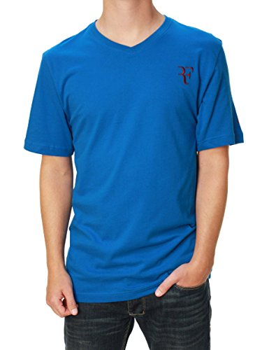 f2fc11b42b705 Nike Men's Roger Federer Organic Cotton V-Neck Tennis T-Shirt