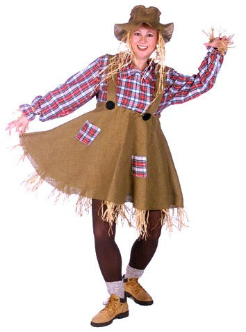 Miss Scarecrow Adult Costume - Womens Large 8-14 -