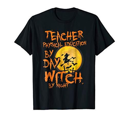 TEACHER PHYSICAL EDUCATION BACK TO SCHOOL TSHIRT HALLOWEEN G -