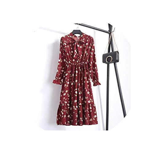 631f2d11265 Autumn Chiffon Shirt Dresses Office Plaid Polka Dot Vintage Dresses Women  Dress