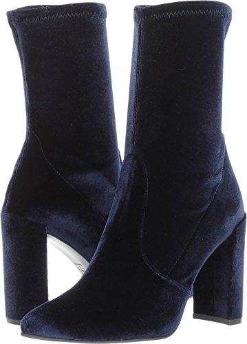 Stuart Weitzman Women's Clinger Ankle Boot Baltic Stretch Velvet