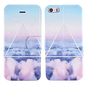 SHOUJIKE The Clouds Design PU Full Body Case with Card Slot for iPhone 5/5S