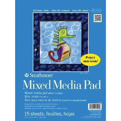 6 Pack 9'' x 12'' Tape Bound Mix Media Pad (Product Catalog: Paper Media, Canvas & Surfaces)