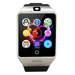 Q18 Smart Watch Support android Bluetooth Mobile Phone SIM TF Card Clock Camera Silver