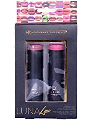 Measurable Difference Luna Lips, Lipstick Duo, Bubble/Bright Pink, 2 count