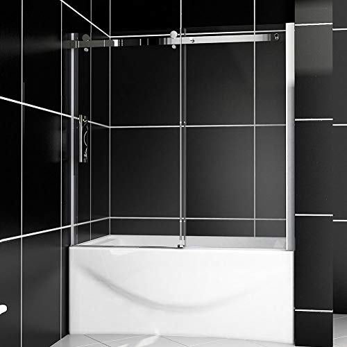 "SUNNY SHOWER Model# B038, Sliding Bathtub Shower Doors, 60"" W x 62"