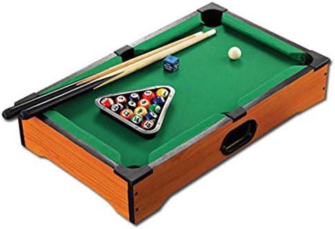 Chendaorong La Tabla de Billar Pelotas de Juego Incluye Las tizas y el triángulo portátil y diversión for Toda la Familia Mini Inicio de Billar Mesa de Billar Top Pool Juego de