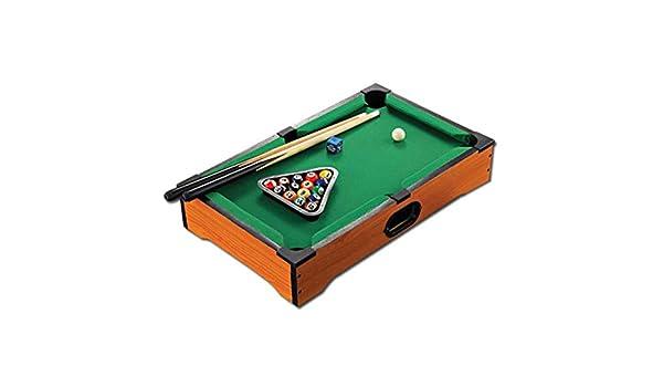 Sumferkyh-toy Mesa de Juegos multiplay La Mesa de Billar Mini Home Pool Incluye Pelotas de Juego, Palos, Tiza y un triángulo portátil y Divertido para Toda la Familia Actividad de Interior para