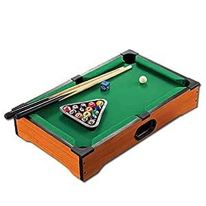 Mesa de Billar La mesa de billar Mini Home Pool incluye pelotas de ...